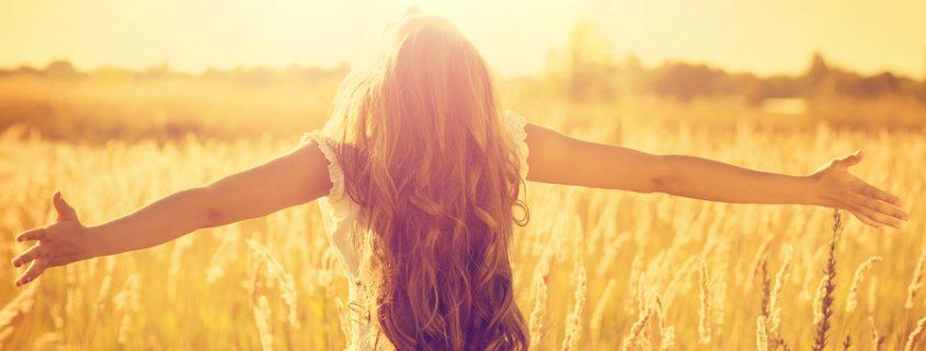woman in sunshine